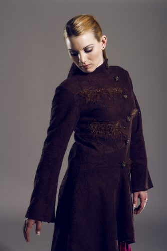 Boiled wool brown coat