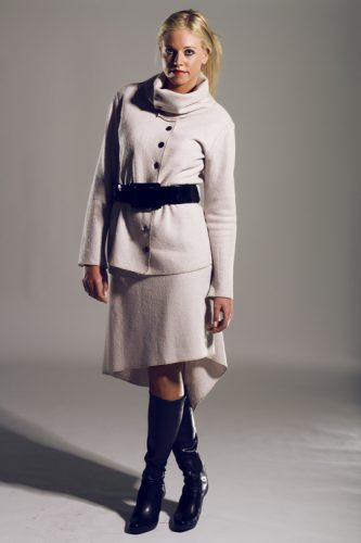 Boiled wool lined skirt & sweater