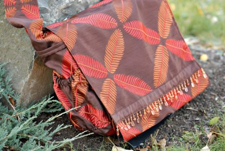 Meditation Cushion Bag Outside